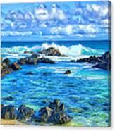 Tide Pool Near Hana Maui Canvas Print