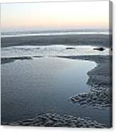 Tide Pools At Sunset Canvas Print