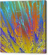 Tie Dye Agave Canvas Print