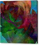 Tie Dye Rose Canvas Print
