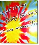 Tie Dye Tease Canvas Print