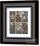 Tied To My Concrete Garden - Kaleidoscope - Hexaptych Canvas Print