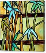 Stained Glass Tiffany Bamboo Panel Canvas Print