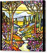 Tiffany Landscape Window Canvas Print