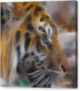 Tiger-5344-fractal Canvas Print