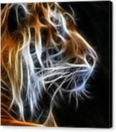 Tiger Fractal 2 Canvas Print