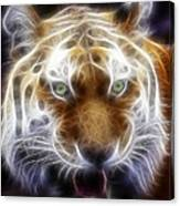 Tiger Greatness Digital Painting Canvas Print