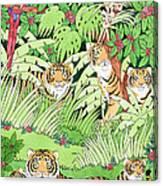 Tiger Jungle Canvas Print