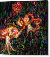Tiger Lilies Abstract Canvas Print