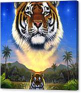 Tiger Of The Lake Canvas Print