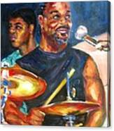 Tiger On Drums Canvas Print