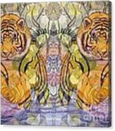 Tiger Spirits In The Garden Of The Buddha Canvas Print