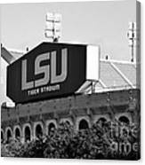 Tiger Stadium - Bw Canvas Print