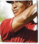 Tiger Woods Artwork Canvas Print