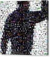 Tiger Woods Fist Pump Mosaic Canvas Print