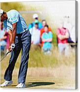 Tiger Woods - The British Open Golf Championship Canvas Print