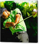 Tiger Woods - Wgc- Cadillac Championship Canvas Print