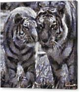 Tigers Photo Art 02 Canvas Print