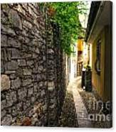 Tight Alley In Stone Canvas Print
