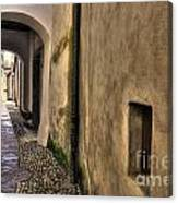 Tight Alley With Arch Canvas Print