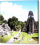 Tikal - Jaguar Temple And North Acropolis Canvas Print