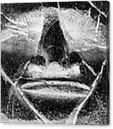 Tiki Mask Negative Canvas Print