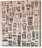 Tiki Sand Zone Canvas Print