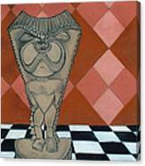 Tiki Statue Art Canvas Print