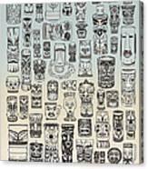 Tiki Time Zone Canvas Print
