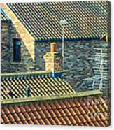 Tile Roofs - Thirsk England Canvas Print