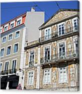 Tiled Building In Chiado District Of Lisbon Canvas Print