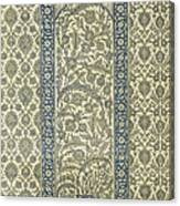 Tiled Panel From Mosque Of Ibrahym Agha From Arab Art As Seen Through The Monuments Of Cairo Canvas Print