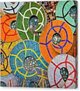 Tiled Swirls Canvas Print