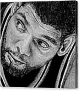 Tim Duncan Drawing The Champ Is Here Canvas Print