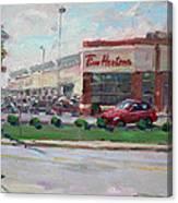 Tim Hortons By Niagara Falls Blvd Where I Have My Coffee Canvas Print