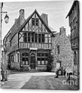 Timber Framed Houses In France Canvas Print