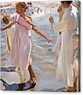 Time For A Bathe Valencia Canvas Print