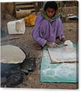 Time For Baking Bread Sinai Desert Egypt Canvas Print