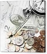 Time Is Money Concept Canvas Print