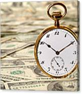 Time Is Over Money Canvas Print