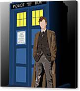 Time Lord And His Tardis Canvas Print