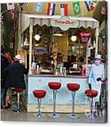 Time Out Snack Bar In Bath England Canvas Print