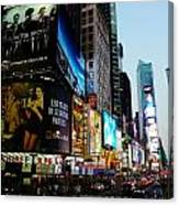 Time Square 2 Canvas Print