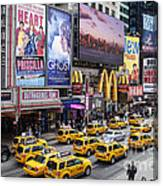 Time Square On A Week Day Canvas Print