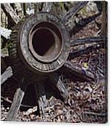 Time Worn Antique Wagon Wheel Canvas Print