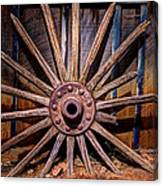 Time Worn Wheel Canvas Print