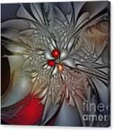 Timeless Elegance-floral Fractal Design Canvas Print