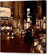 Times Square At Night - In Copper Canvas Print