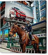 Times Square Horse Power Canvas Print