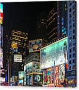 Times Square In 2010 Canvas Print